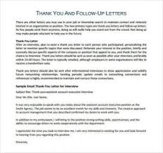 Bunch Ideas Of Thank You Letter After Interview 7 Free Word Pdf
