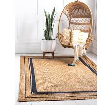 6 x 9 braided jute rug