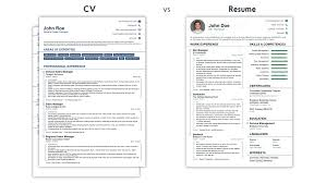 Resume Cv What Is Cv Cv Vs Resume What Is The Difference Examples