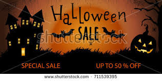 halloween sale flyer halloween sale flyer halloween sale banner stock photo photo
