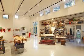 diy home art studio home office modern with wood table work room wood shelves