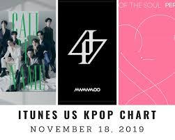 Itunes Us Itunes Kpop Chart November 18th 2019 2019 11 18