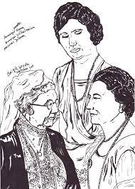 Pentekening Van 3 Generaties Nederlandse Koninginnen Getekend Door