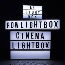 Led Light Box Sign Details About New Cinematic Row Magnetic A4 Mini Led Lightbox Sign Wedding Party Home Cinema