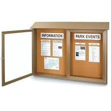 outdoor message boards canada center enclosed cork board wall mount 2 x double door