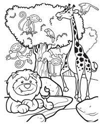 Small Picture Safari Coloring Pages Ideas Collection Safari Coloring Pages For