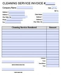 Cleaning Invoices Custom Free Download Sample 48 Cleaning Invoice Template Recommended