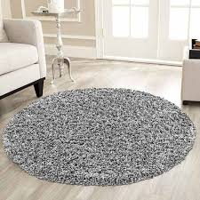verona rug round grey