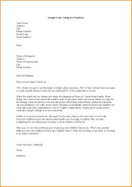 Template Template For Asking Donations Letter Memo Templates Resume