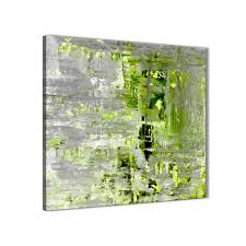 modern lime green grey abstract painting wall art print canvas modern 49cm square 1s360s for your display gallery item 1  on lime green wall art prints with lime green grey abstract painting wall art print canvas modern