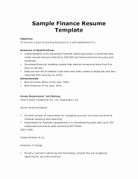 Basic Resume Template Word Print Finance Resume Template Word Accounting And Finance Resume 36