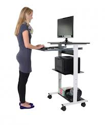 standing computer desk. Fine Desk Mobile Standing Computer Workstation  Keyboard Tray  With Desk Stand Up Store