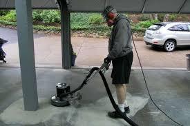 how to grind concrete garage floor