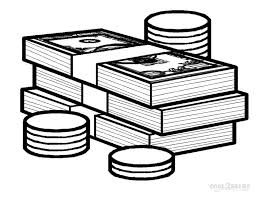 Money Coloring Sheet Printable Money Coloring Pages For Kids