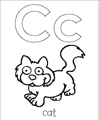Small Picture Letter A Coloring Pages For Preschoolers Within Abc Es Coloring