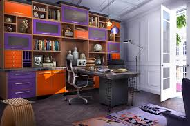 colorful home office. colorful modern home office r