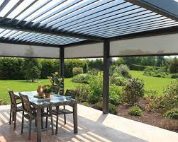 aluminium pergolas louvred roof