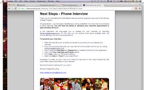 web based interview wbi dcp micki deg o deg  later that day i received an email telling me to choose a day and time for my phone interview the email looked like this this email also comes