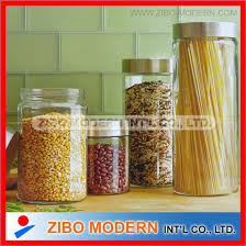 glass canister stainless steel lid