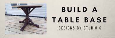 an easy to build base for a round table