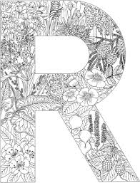 Letter R With Plants Coloring Page From English Alphabet With Plants