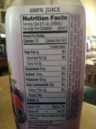 nutrition info on the bottle says 120 calories not 130 it also has 10 mg sodium not 15