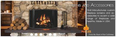 fireplace screen and glass doors outstanding stoll inc custom heating interior design 18