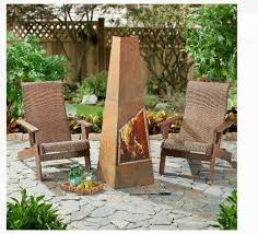 wood burning fireplace paa fire pit patio freestanding outdoor decorative for
