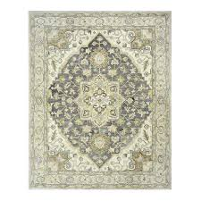 allen roth brookford charcoal ivory rectangular indoor handcrafted area rug common 8
