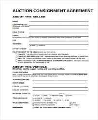 consignment form for cars 11 consignment agreement form samples word pdf