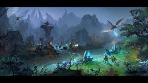 download wallpaper 1920x1080 dota 2 middle battle map heroes