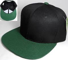 Blank Two Tone Snapback Wholesale Hats \u0026 Caps - Black | Dark Green