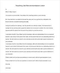 Letter Of Recommendation Template Teacher Sample Teacher Recommendation Letter 7 Examples In Pdf Word
