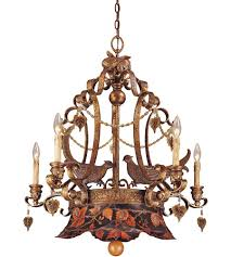 savoy house tracy porter regal pheasant 5 light chandelier in hand painted metal w vintage gold 1 110 5 300