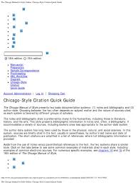 The Chicago Manual Of Style Online Chicago Style Citation Quick