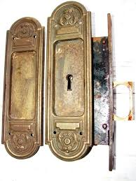 antique brass pocket door hardware item a antique restoration hardware antique door hardware antique brass sliding door hardware