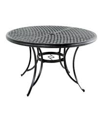 incredible heritage round cast top dining table 48 inch round patio table top