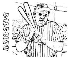 Small Picture Babe Ruth the Baseball Legend in MLB Coloring Page Color Luna