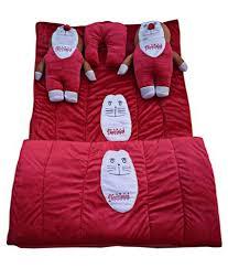 royal shri om red velvet bedding set