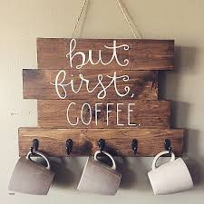 shabby chic shabby chic wooden signs new but first coffee wood sign with hooks to