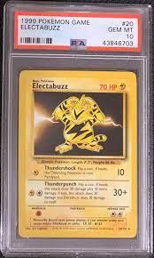 Unlimited Edition ELECTABUZZ NM 20/102 Rare Base Set Pokémon Trading Card  Game komiolaf Pokémon Individual Cards