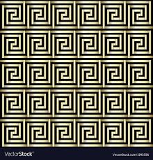 Grecian Key Design Greek Key Gold Design