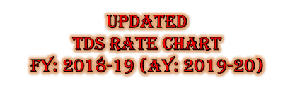 Tds Rate Chart For Fy 2013 14 Tds Rate Chart Fy 2018 19 Ay 2019 20