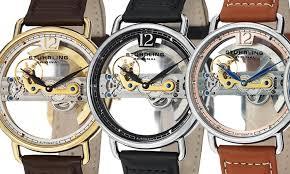 stuhrling original men s skeleton bridge automatic watches groupon stuhrling original men s skeleton bridge automatic watch stuhrling original men s skeleton bridge automatic watches