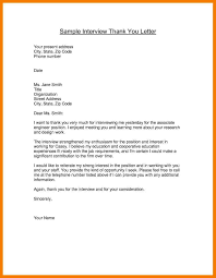 Thank You Letter After Medical School Interview Cover Letter