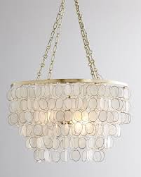 Neiman marcus lighting Horchow Capiz Neiman Marcus Aurora 3light Golden Chandelier Neiman Marcus