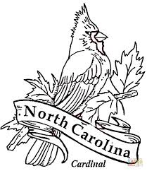 Small Picture Cardinal Bird Of North Carolina coloring page Free Printable