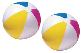 pool water with beach ball. Lot Of 2 - Intex Glossy Panel 24 Inch Inflatable Swimming Pool / Beach Ball Water With