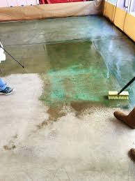 acid staining is easy and gives you a unique and inexpensive new concrete floor covering