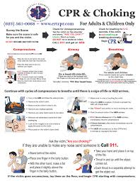 cpr and choking quick reference